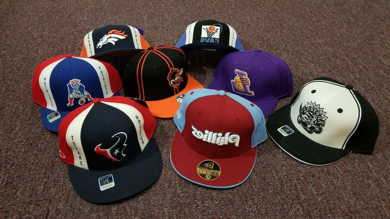 NBA NFL MLB Fitted Baseball 7-1/2, Reebok and Original