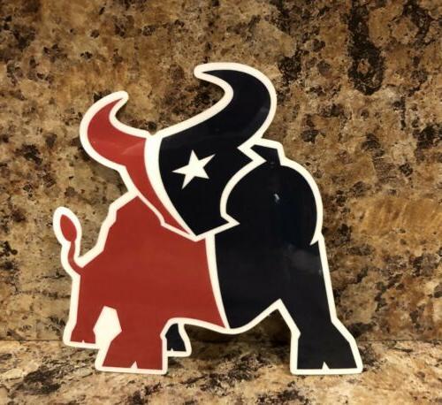 new houston texans logo car sticker nfl