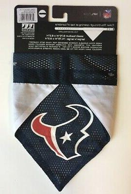 *NEW* Pets First Houston Texans Pet Reversible Bandana L/XL Size