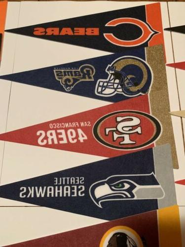 NEW NFL Mini Pennants Pick Your Team Flag Banner