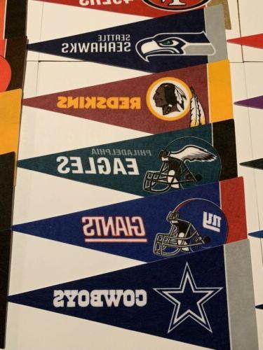 """NEW Football Mini Pennants Your Team 4""""x9"""" Flag Banner"""