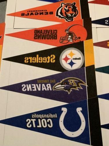"""NEW NFL Football Teams Mini Team 4""""x9"""" Flag"""