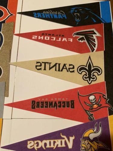 NEW NFL Football Mini Pennants Team 32 Teams Flag Banner