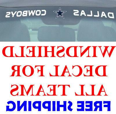 new nfl windshield decals for car van