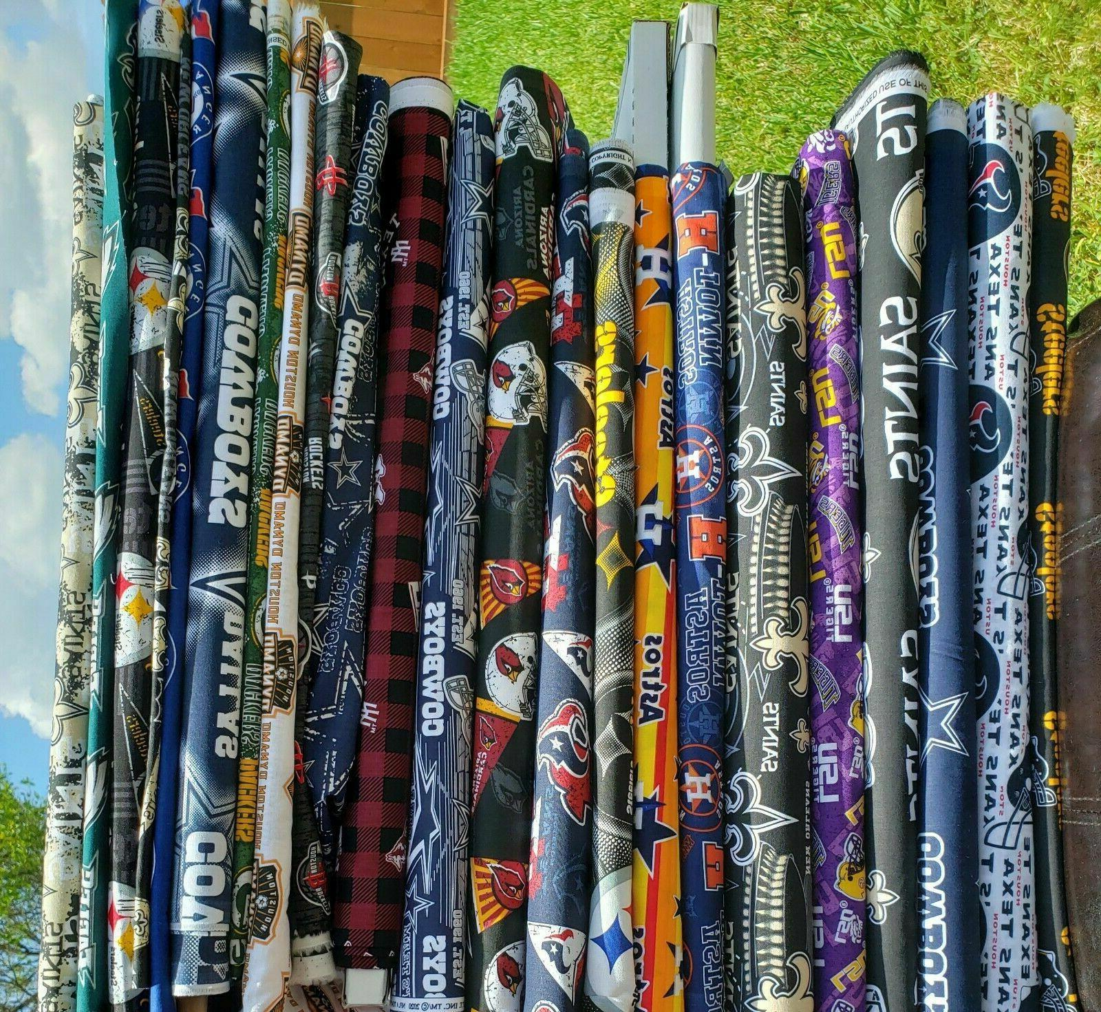 NFL Football Fabric By The 1/4, of your team 100%