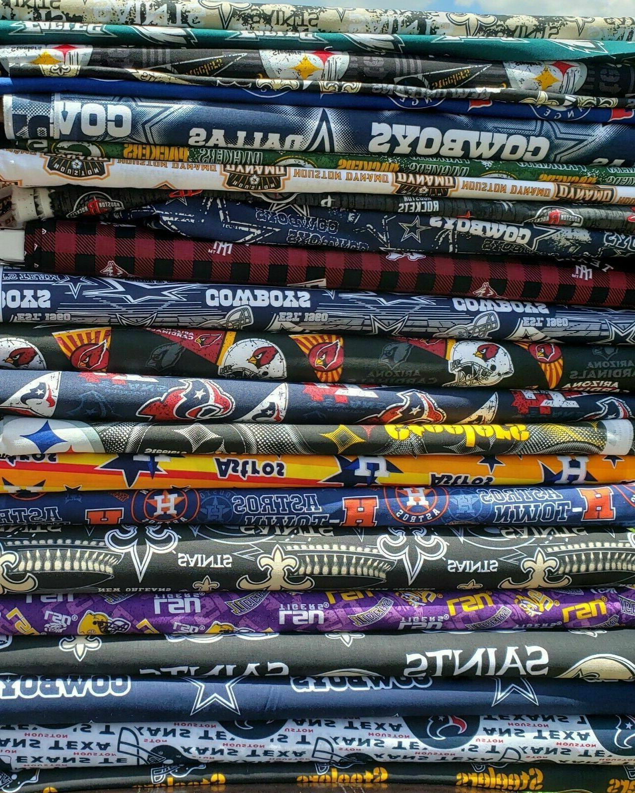 nfl football cotton fabric by the 1