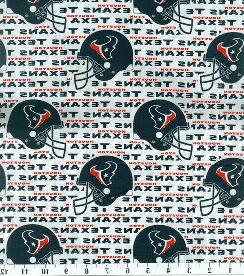 nfl houston texans 100 percent cotton fabric