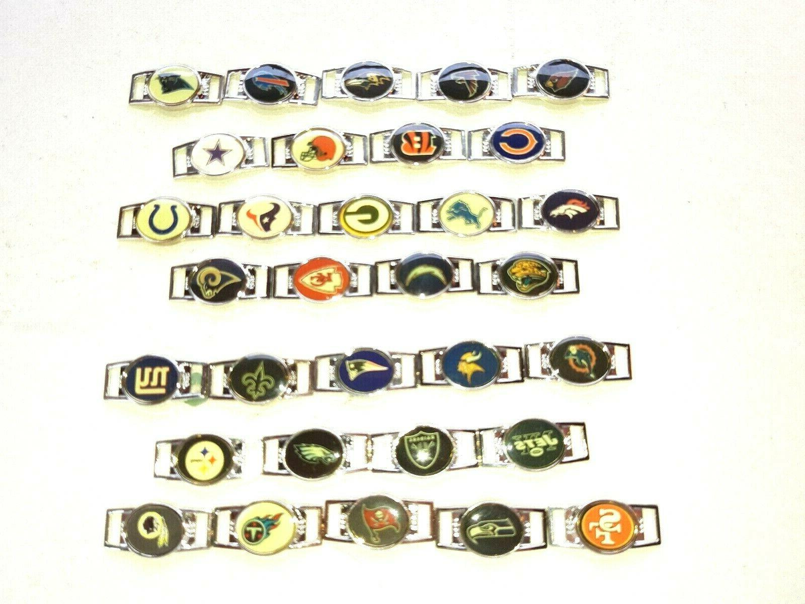 nfl oval charms for shoelaces and paracord