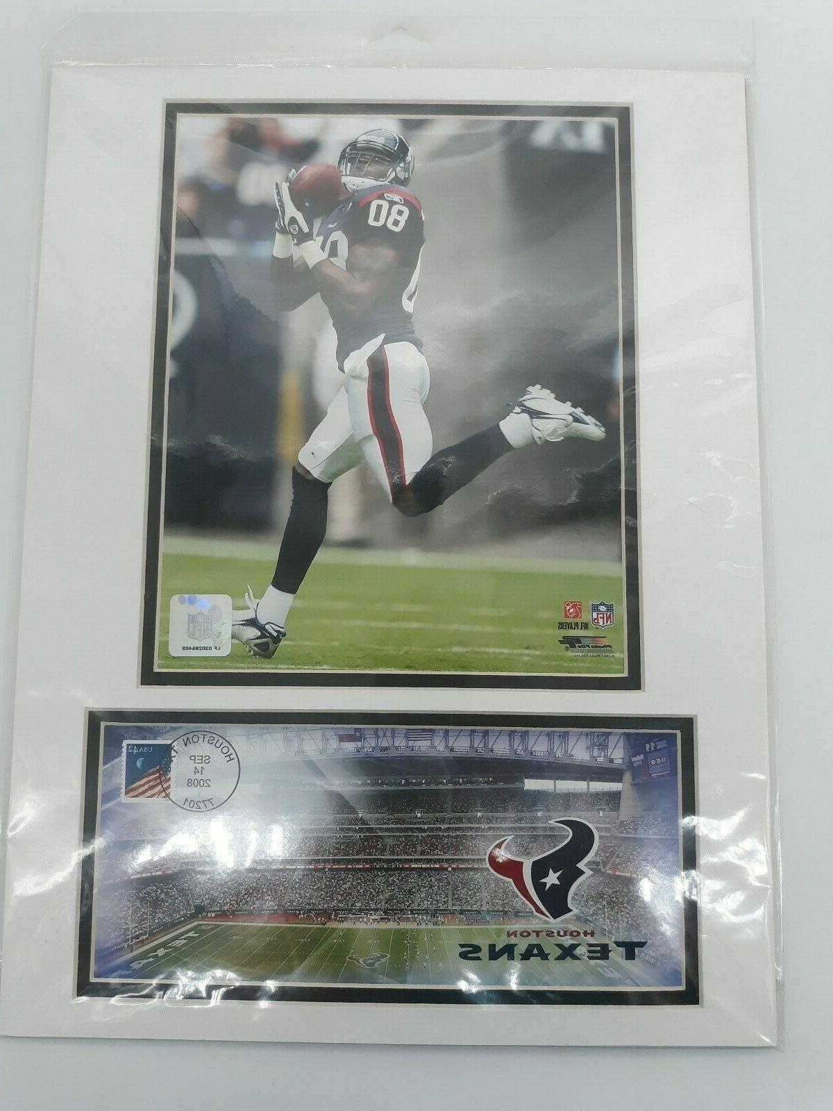 Sealed 2008 Dallas Houston Texans Photo/Stamped Cover Set