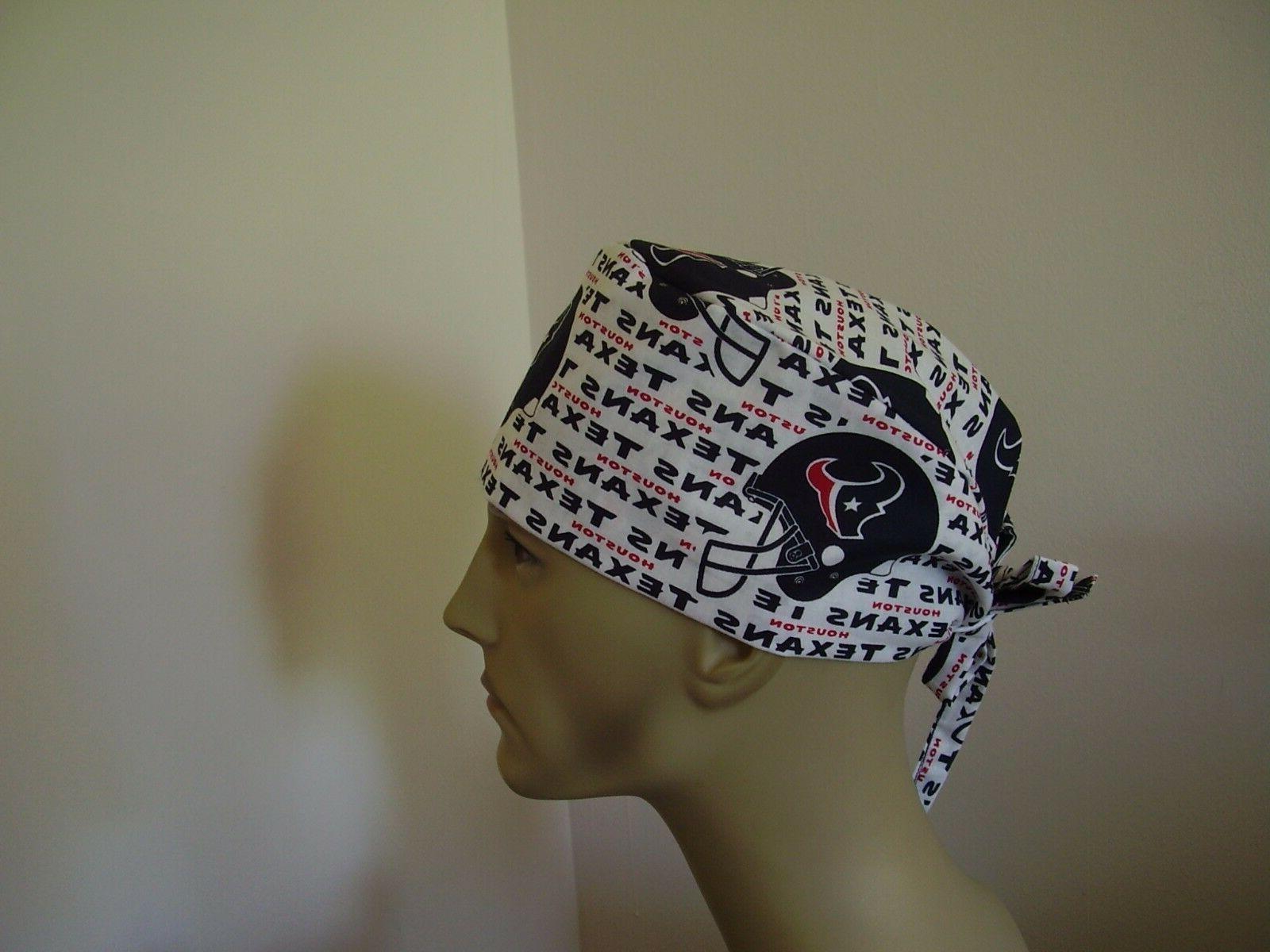 surgical scrub hat cap nfl houston texans