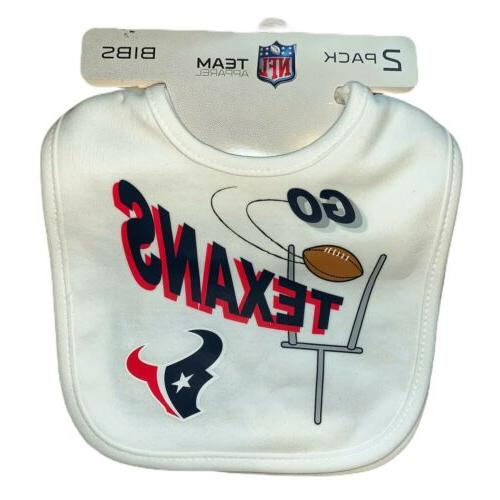 NFL Team TEXANS Football Gerber Baby Bibs NWT