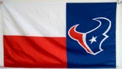 Texans FLAG 3X5 Banner USA Shipping