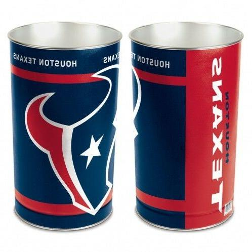 wastebasket trash cans one piece football houston