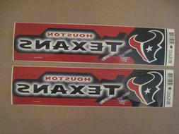 Lot Of  Vintage Houston Texans Wincraft Bumper Stickers