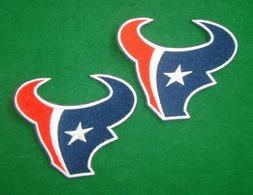 LOTS 2pcs Houston Texans  Iron On Embroidered Badge Patch Ap