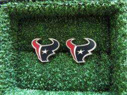 Men's NFL Houston Texans Red/White/Blue Cufflinks #103