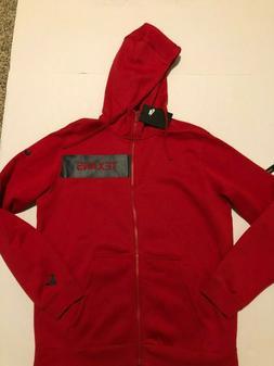 Nike Men's Houston Texans Red Full Zip Hoodie Sweatshirt J
