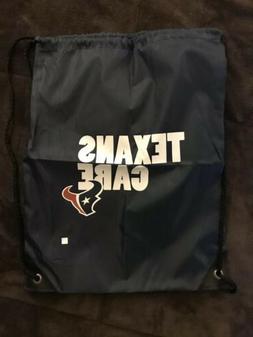 New NFL Houston Texans Care Drawstring Bag Backpack Tote Log