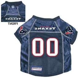 NEW HOUSTON TEXANS PET DOG PREMIUM NFL JERSEY w/NAME TAG ALL