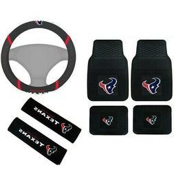 New NFL Houston Texans Car Truck Floor Mats Steering Wheel C