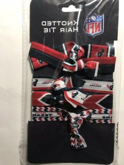 NEW NFL Houston Texans Set of 4 Red White & Blue Knotted Ela