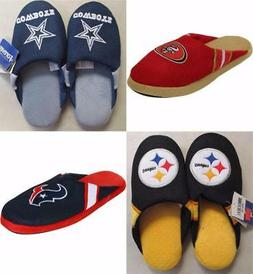 New NFL Slippers Mens Unisex S-M-L-XL MSRP $25 Perfect for H