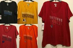 New NFL Women's T-shirt Plus Size Ladies Football Tee Shir