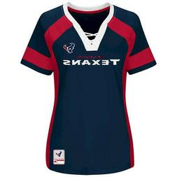 NEW MAJESTIC NFLTeam Apparel HOUSTON TEXANS   V-Neck Jersey