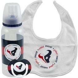NFL Houston Texans Infant 3-Piece Bottle, Bib & Pacifier Gif