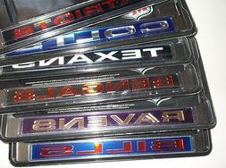 NFL Chrome Metal License Plate Cover Frame~Laser Cut~Car~Tru