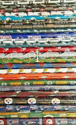 NFL DENVER, DETROIT, GREEN BAY, HOUSTON Cotton Fabric - 1/4