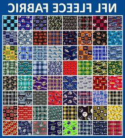 """NFL Fleece Fabric All Teams Sports Collection - 58-60"""" Wide"""