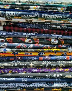 NFL Football Cotton Fabric By The 1/4, 1/8 of a yard Pick yo