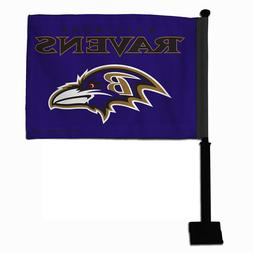 nfl football fan team car window flag