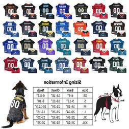 NFL Football Licensed Pet Dog Jersey CHOOSE YOUR TEAM AND SI