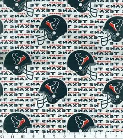 NFL HOUSTON TEXANS 100% COTTON FABRIC BY THE 1/4  YARD