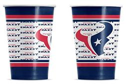 New NFL Houston Texans 20 Disposable 16oz Paper Cups Party-W