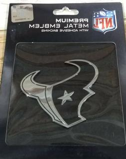 NFL Houston Texans Auto Metal Emblem New In Package 2014 Adh