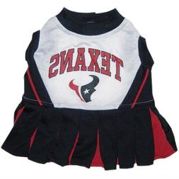 "NFL Houston Texans Cheerleader Pet Dress-XS Fits 6""- 8 1/2"""