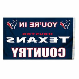NFL Houston Texans Country 3-by-5 Feet Flag with Grommetts