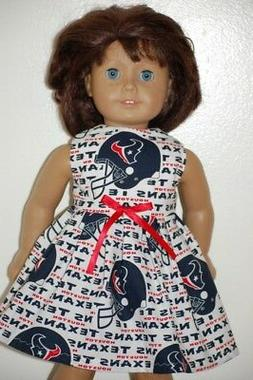 NFL Houston Texans dress - clothes made for American Girl