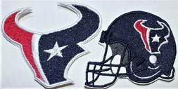 NFL Houston Texans Embroidered   Iron-on Patch FREE SHIP