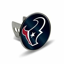 NFL Houston Texans Laser Cut Metal Hitch Cover, Large, Silve