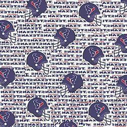 nfl houston texans licensed cotton fabric 1