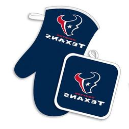 NFL Houston Texans Logo Oven Mitt & Pot Holder, One Size, Bl