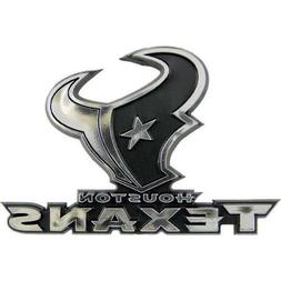 NFL Houston Texans Plastic Chrome Emblem Decal Size Aprx. 3