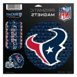 NFL HOUSTON TEXANS PRISMATIC MAGNETS 3 ON A SHEET NEW