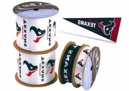 nfl licensed houston texans ribbons and mini