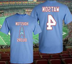 NFL Oilers Houston Texans Jersey Style T-Shirt, Watson, Moon