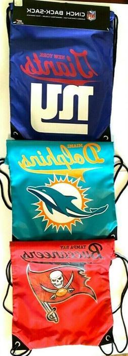 NFL Team Drawstring Backpack sack / Gym bag / Cinch Bag